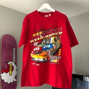 Vintage Kyle Bush #18 NASCAR Double Sided T-Shirt